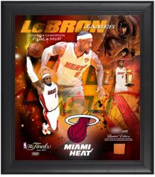 Miami Heat LeBron James 2012 NBA Finals Champions Framed Collage with Game-Used Basketball Limited Edition of 250 - Mounted Memories