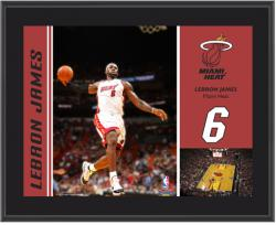 "Miami Heat LeBron James 10"" x 13"" Sublimated Plaque - Mounted Memories"