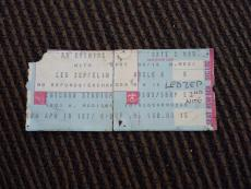 Led Zeppelin April 10 1977 Chicago Stadium Used Concert Ticket Stub