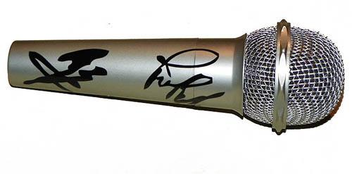 Led Zeppelin Autographed Facsimile Signed Microphone Jimmy Page - Robert Plant Jpj