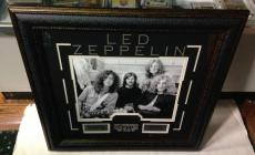 Led Zeppelin custom framed 11x14 photo with laser engraved name plates 24.5x24