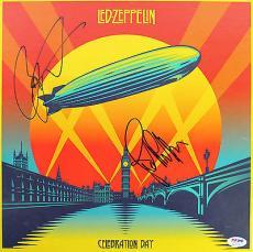 Led Zeppelin Jason Bonham & JP Jones Signed Celebration Day Box PSA #AC17139