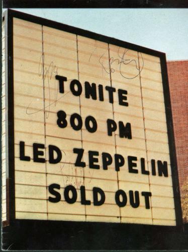 Led Zeppelin Jimmy Page Robert Plant Jones Signed Autographed Program Beckett