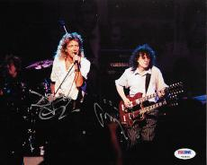 Led Zeppelin Jimmy Page & Robert Plant Signed 8x10 Color Photo Psa/dna #v09824