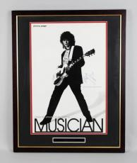Led Zeppelin – Jimmy Page Signed 24×30 Poster Display – JSA Full LOA