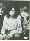 Led Zeppelin John Paul Jones Signed Autographed 8 x 10 Magazine Photograph JSA