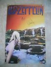 Led Zeppelin Plant & John Paul Jones Signed Autograph 22x34 Poster PSA Certified
