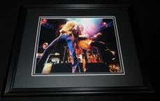 Led Zeppelin Robert Plant Jimmy Page in Concert Framed 8x10 Photo Poster
