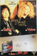 Led Zeppelin- Robert Plant & Jimmy Page Signed 20X30 Poster PSA/DNA #T08816