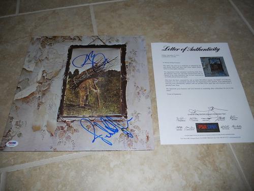 Led Zeppelin Robert Plant John Paul Jones Signed Autographed LP PSA Certified #2