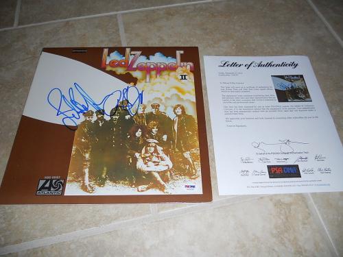 Led Zeppelin Robert Plant John Paul Jones Signed Autographed LP PSA Certified #3