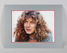 Led Zeppelin – Robert Plant Signed 15×20 Matted Photo Display – JSA Full LOA