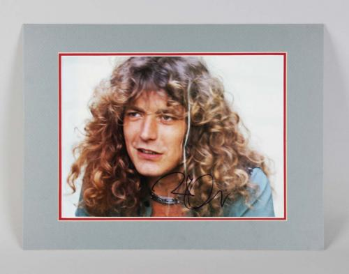 Robert Plant Signed Photo Matted Display Led Zeppelin – COA JSA