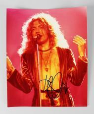 Led Zeppelin Robert Plant Signed 8×10 Concert Photo JSA Full LOA