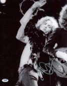 Led Zeppelin Robert Plant Signed Autographed 11x14 On Stage Photograph PSA/DNA