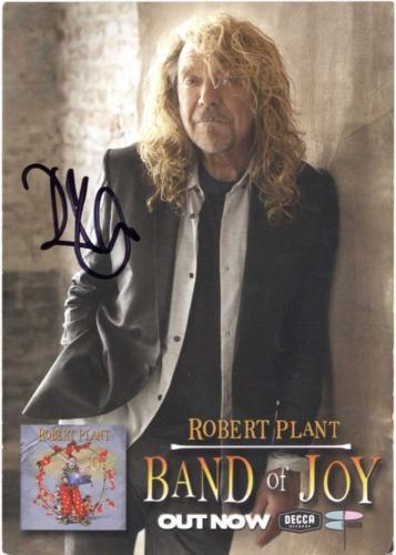 Led Zeppelin Robert Plant Signed Autographed 3x5 Photograph Beckett BAS