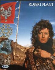 Led Zeppelin Robert Plant Signed Autographed 8x11 Concert Program Beckett BAS
