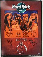 Led Zeppelin Signed Autographed 20x32 Hard Rock Poster Plant Page Jones PSA/DNA