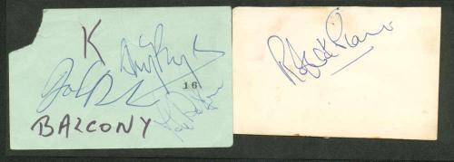 Led Zeppelin Signed Autographed 2.5 x 5 Album Page Bonham Page Plant  Beckett