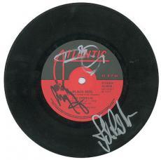 Led Zeppelin Signed Autographed Black Dog 45 Record Page Plant Jones PSA/DNA