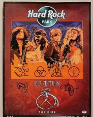 Led Zeppelin Signed Autographed Poster Plant Page & Jones PSA/DNA Authentic