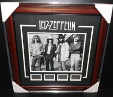 Led Zepplin Robert Plant Laser Engraved Signature Custom Framed Photo Band