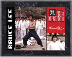 LEE, BRUCE (THE DRAGON)  SUBLIMATED COLOR PLAQUE (8x10 BOARD