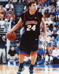 "David Lee Florida Gators Autographed 8"" x 10"" Dribbling Photograph"