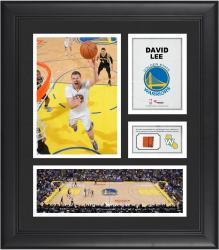 "David Lee Golden State Warriors Framed 15"" x 17"" Collage with Team-Used Ball"