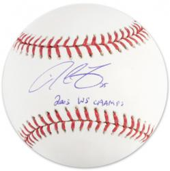 Derrek Lee Autographed Baseball with 2003 WS Champs Inscription