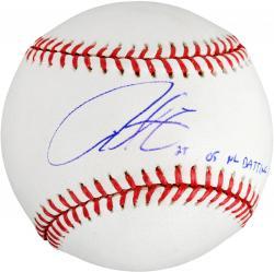 Derrek Lee Autographed MLB Baseball with 05 NL Batting Champ Inscription