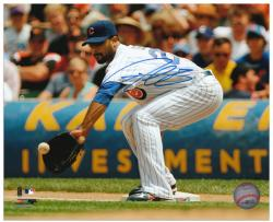 "Derrek Lee Chicago Cubs Autographed 8"" x 10"" Fielding Photograph"