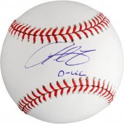 "Derrek Lee Autographed Baseball with ""D-LEE"" Inscription"