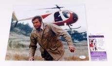 Lee Majors Signed 11 x 14 Color Photo Pose #2 Six Million Dollar Man JSA Auto