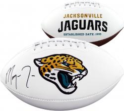 Jacksonville Jaguars Marqise Lee 2014 NFL Draft Autographed White Panel Football