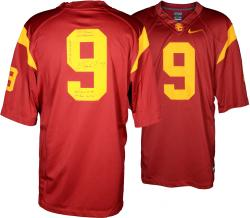 Marqise Lee USC Trojans Autographed Limited Red Jersey with Multiple Stats Inscriptions - Mounted Memories