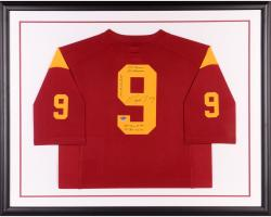 Marqise Lee USC Trojans Autographed Framed Limited Replica Jersey with Multiple Stats Inscription