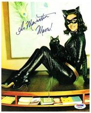LEE MERIWETHER AUTOGRAPHED 8x10 PHOTO CATWOMAN BATMAN AND ROBIN RARE PSA/DNA