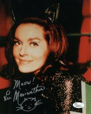 LEE MERIWETHER HAND SIGNED 8x10 COLOR PHOTO      GORGEOUS POSE CATWOMAN      JSA