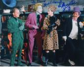 LEE MERIWETHER HAND SIGNED 8x10 COLOR PHOTO+COA    BATMAN'S CATWOMAN    TO DAVID