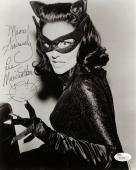 LEE MERIWETHER HAND SIGNED 8x10 PHOTO      AMAZING POSE AS CATWOMAN          JSA