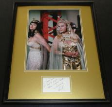 Lee Meriwether Signed Framed 16x20 Note & Photo Display Batman Catwoman