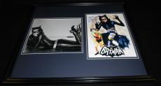 Lee Meriwether Signed Framed 16x20 Sketch & Photo Set Batman Catwoman