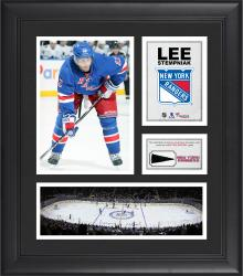 """Lee Stempniak New York Rangers Framed 15"""" x 17"""" Collage with Piece of Game-Used Puck"""