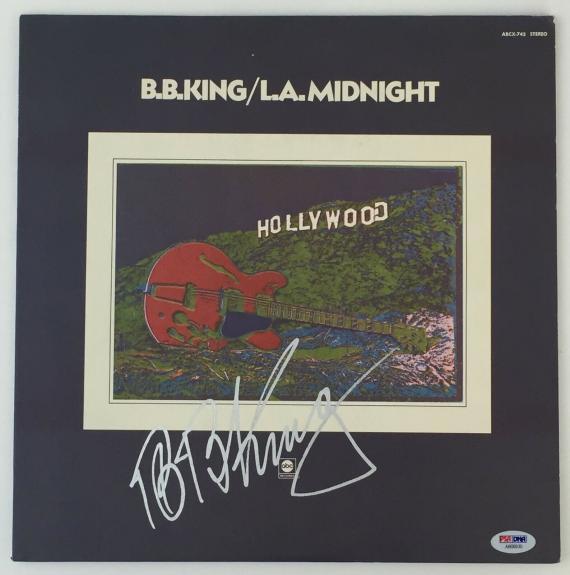 LEGEND!!! BB King BLUES Signed L.A. MIDNIGHT LP Album PSA/DNA LOA