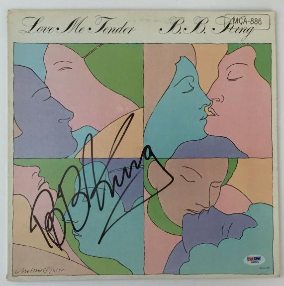 LEGEND!!! BB King BLUES Signed LOVE ME TENDER LP Album PSA/DNA LOA