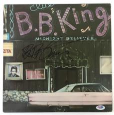 LEGEND!!! BB King BLUES Signed MIDNIGHT BELIEVER. LP Album PSA/DNA LOA