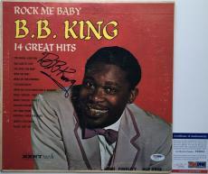 LEGEND!!! BB King BLUES Signed ROCK ME BABY LP Album PSA/DNA