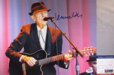 LEGEND!!! Leonard Cohen Signed BEAUTIFUL LIVE 11x14 Photo #4 PSA/DNA