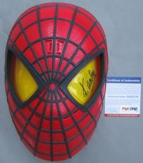 LEGEND!!! Stan Lee MARVEL Signed SPIDER-MAN Mask PSA ITP Avengers POW!!!